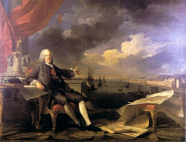 The Marquis of Pombal Enlightening and Rebuilding Lisbon, by Louis-Michel van Loo and Claude Joseph Vernet