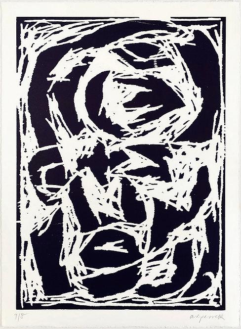A. R. Penck, Kopf (Dunkelblau), 1994