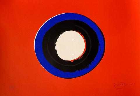 Otto Piene, Blue Moon#1, 2001