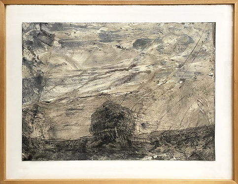 Felix Droese, Landschaft (Grau), 1989