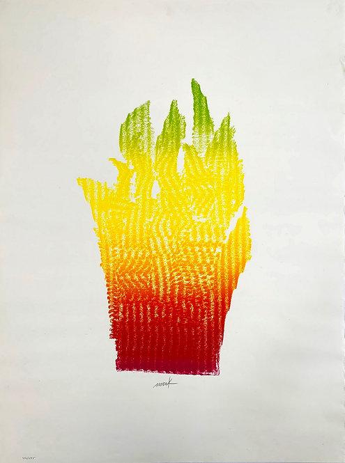 Heinz Mack, Flammenhand, 1981