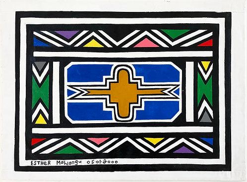 Esther Mahlangu, Colours of South Africa, 2000