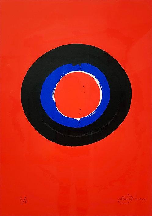 Otto Piene, Blue Moon#2, 2001