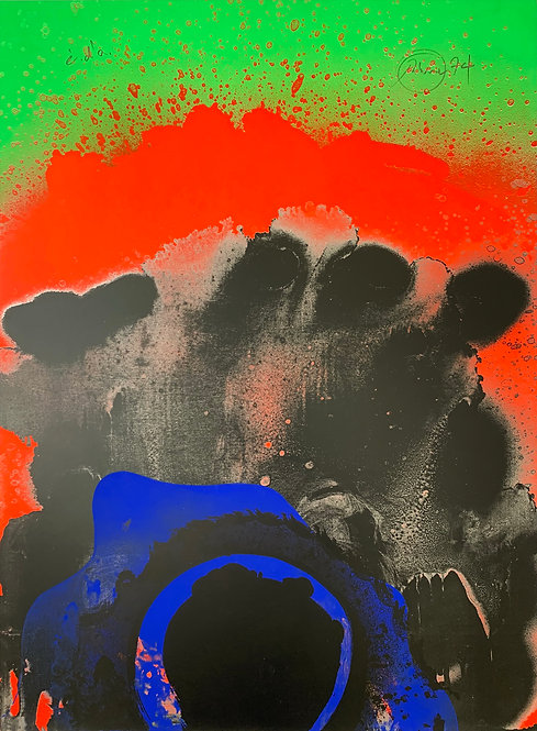 Otto Piene, Black Hawaii, 1974