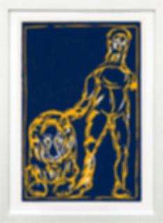 """""""Blauer Löwe"""" von Marku Lüpertz"""