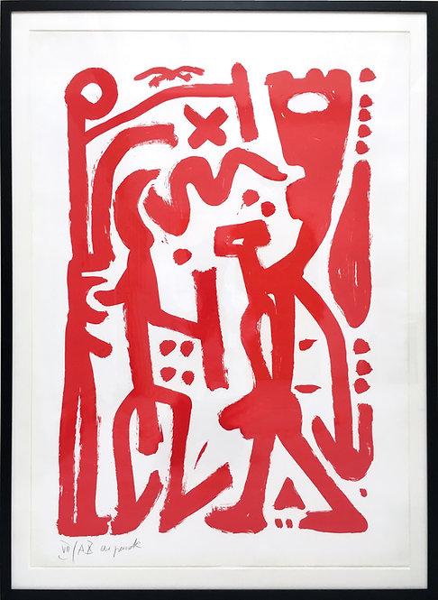 A. R. Penck, Ohne Titel (rot)