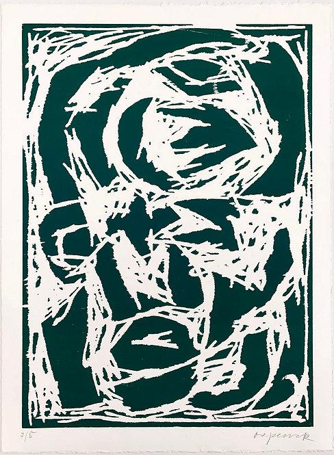 A. R. Penck, Kopf (Grün), 1994