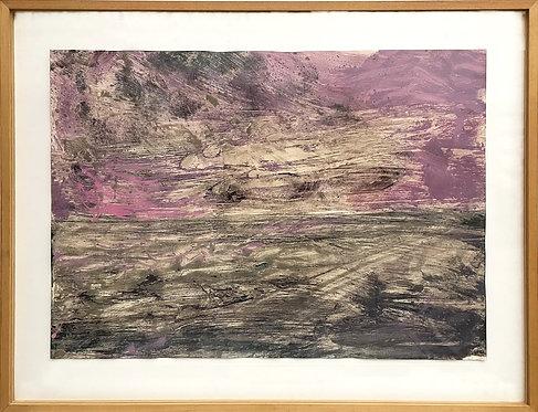 Felix Droese, Landschaft (Pink), 1989