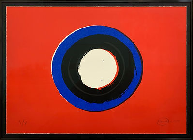 Otto Piene, Blue Moon#1 (gerahmt), Auflage 50, 2001.jpg