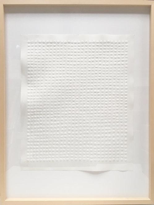 Günther Uecker | Reihung / symmetrische Struktur 1972 (mit Rahmen)