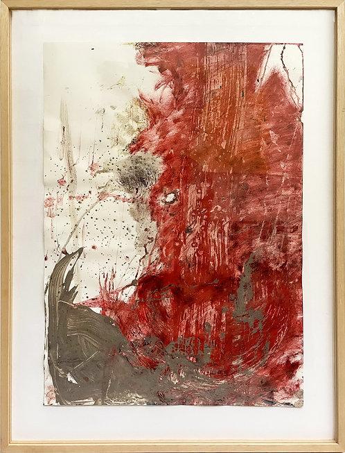 Felix Droese, Ohne Titel (Rot), 1989