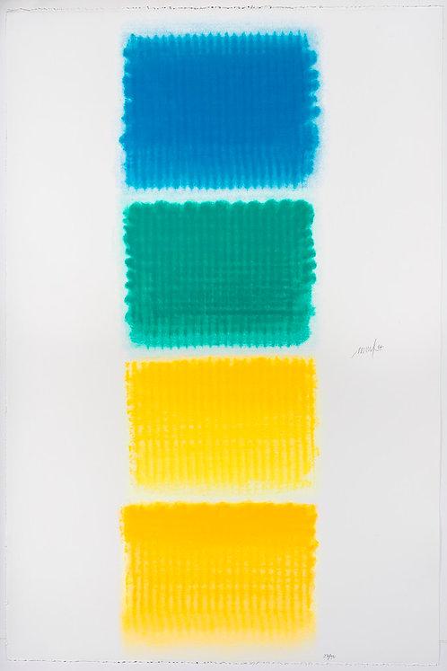 Heinz Mack, Vier Lyrische Farben, 1997