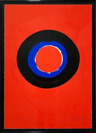 Otto Piene, Blue Moon#2