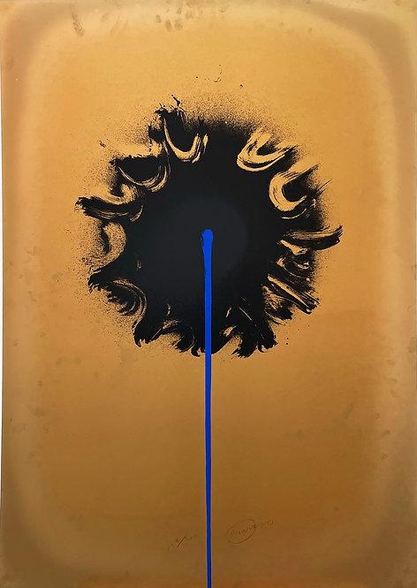 Otto Piene, Blue Streak, 1980