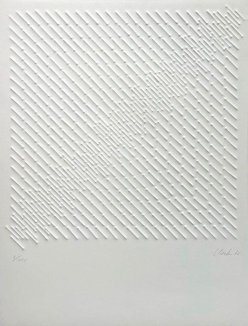 Günther Uecker | Diagonale Struktur | 1976