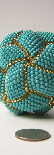 Turquoise Spherical Icosahedron