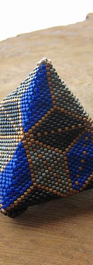 Blue Black Grey Pyramid