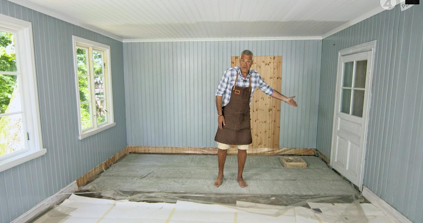 Lättbetong | Sverige | EPSCement AB : golvvärme i källare utan isolering : Inredning