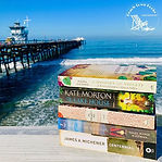 Check out that BOOK STACK! Check out tha