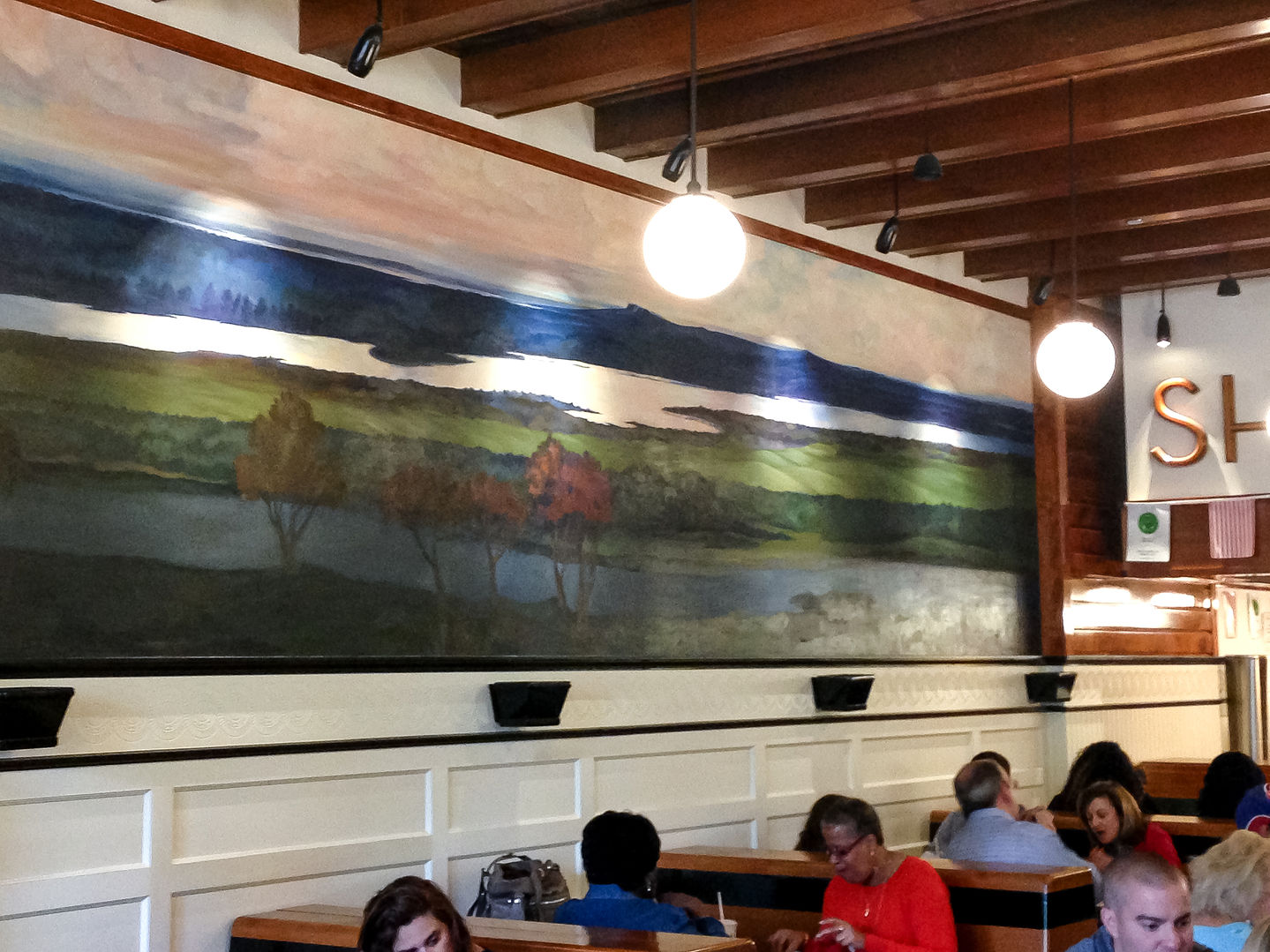 restaurant shake shack hand made mural new york chicago