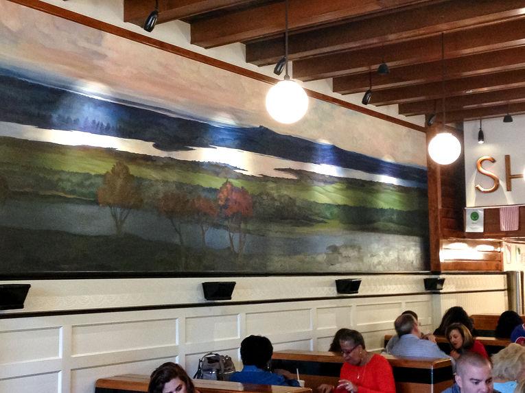 restaurant shake shack hand made mural new york chicago