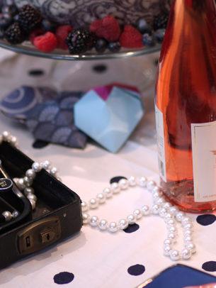rose wine & pearls