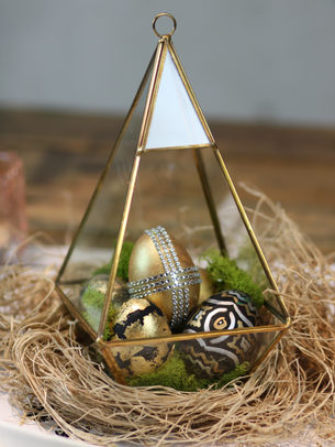 Easter Eggs painted and gold