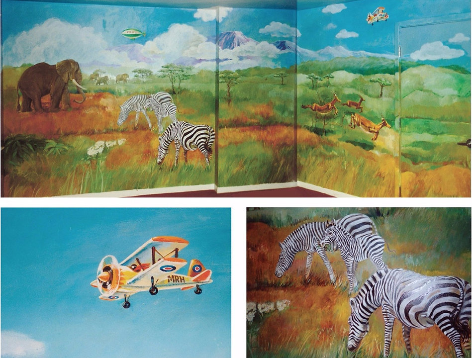 african theme childrens mural