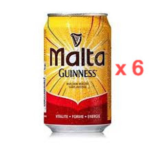 Malta Guiness Non-Alcoholic malt drink  (330ml x 6 cans)