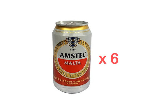 Amstel Malta Non-Alcoholic malt drink  (33cl x 6 cans)