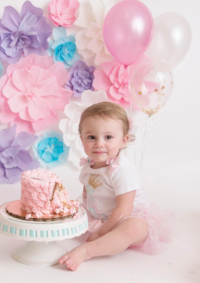 cake smash session milestone photography maryland family photography happy birthday