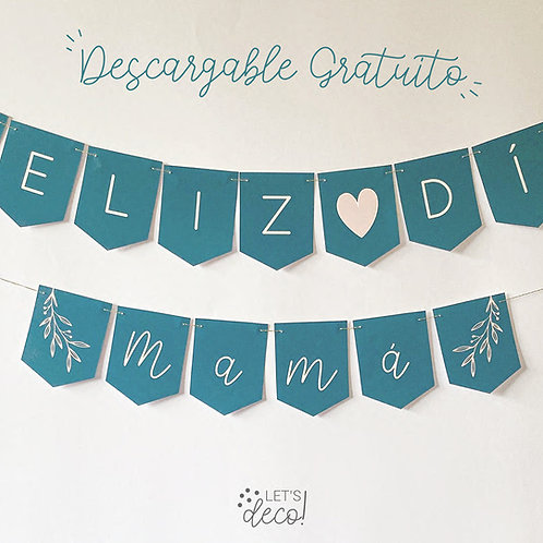 "Mini Banderín ""Feliz Día Mamá"""