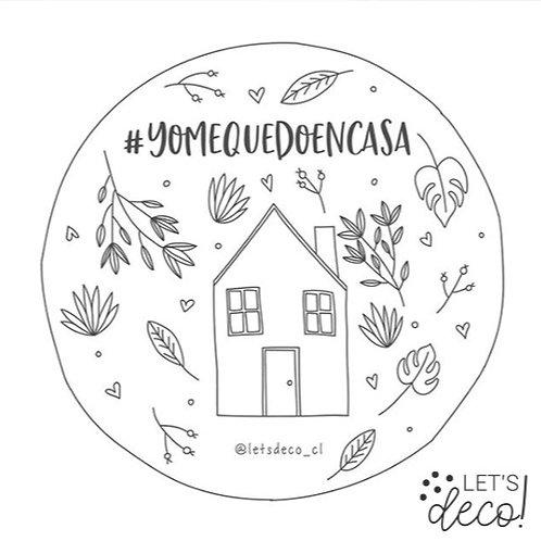 Ilustración #YoMeQuedoEnCasa