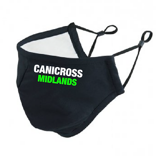 Canicross Midlands - Text Design - PR796 Anti-Bacterial Face Cover