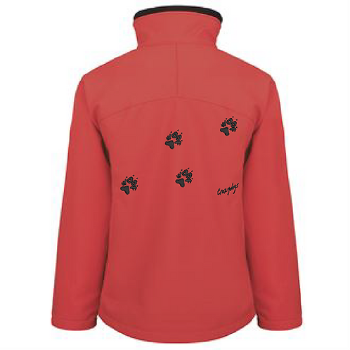 R122F Ladies Soft Shell Jacket - 4 Woof Paws