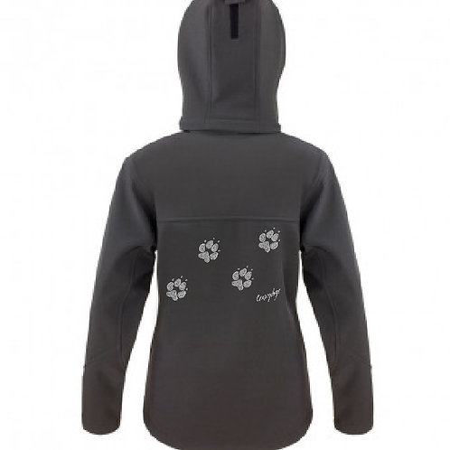 R230F Ladies Hooded Soft Shell Jacket - 4 Paws