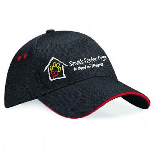 Sarah's Foster Dogs - SFD Banner Logo - BB15C Baseball Cap