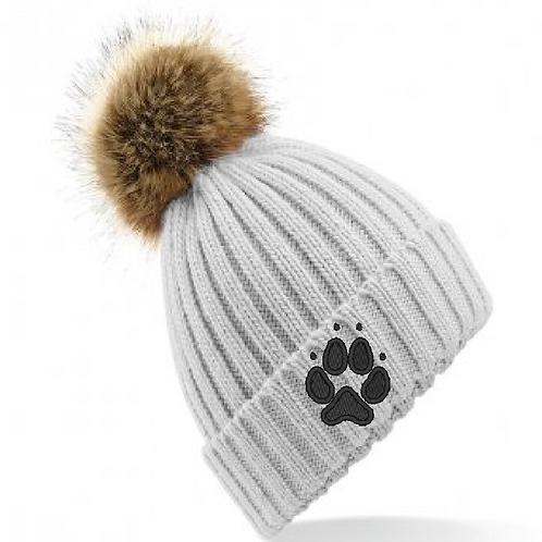 Crazydogs  - 1 Paw - BB412 Faux Fur Pom Pom Hat