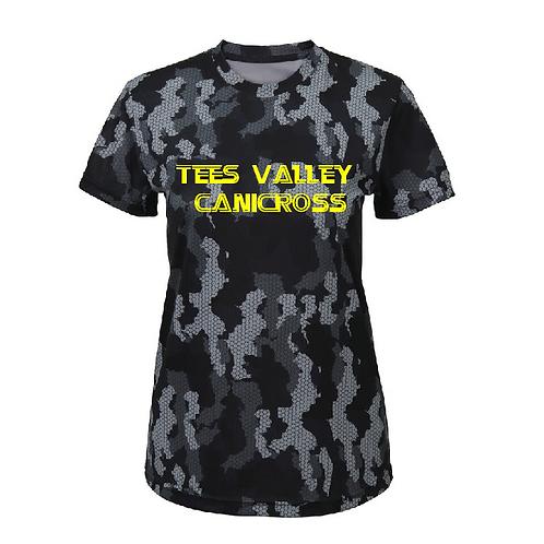 Tees Valley Canicross - TR025 Ladies Performance Camo Shirt