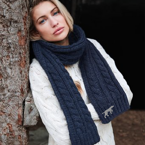 GSP Rescue UK  - Pointy - BB499 Cable Knit Melange Scarf