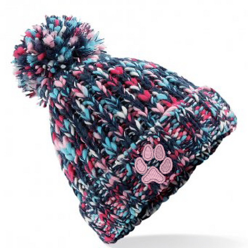 Crazydogs  - 1 Paw  - BB487 Twist Bobble Hat