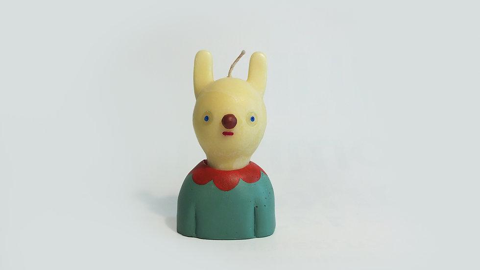 Bu the rabbit -Handmade candle