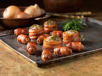 Stuffed Bacon Rolls