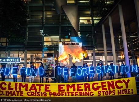 Climate Activists Ramp Up Pressure on BlackRock During Fires Week of Action