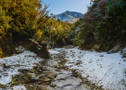 Kowhai Stream after snowfall