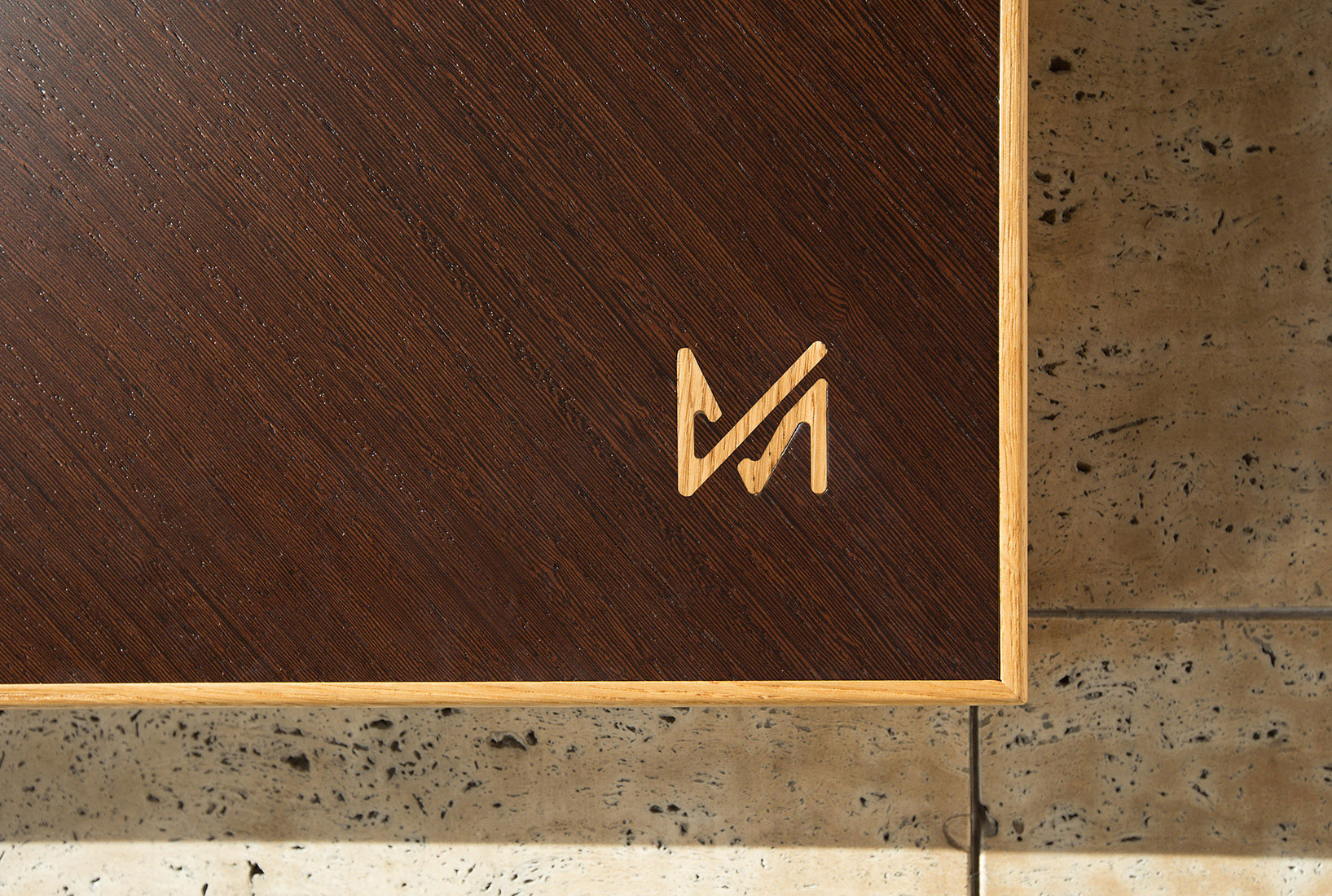 WOOD INLAY SIGNATURE