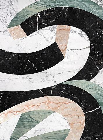Vortice futurista in marmo