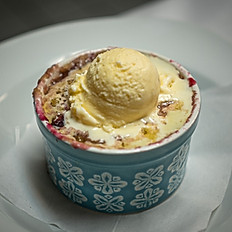 Cobbler with Ice Cream