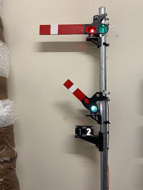 Upper quadrant Main arm, Shunt and route indicator