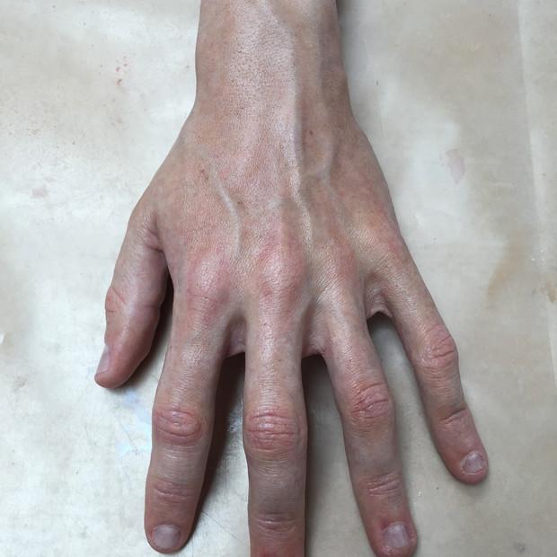 Silicone hand.